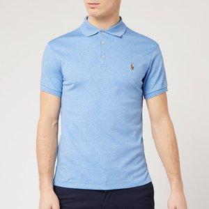 Polo Ralph Lauren Men's Pima Cotton Slim Fit Polo Shirt - Soft Royal Heather - Xl 710652578088 Mens Tops, Blue