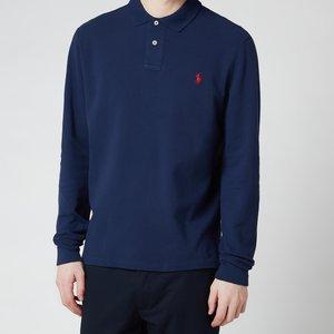 Polo Ralph Lauren Men's Slim Fit Mesh Long Sleeve Polo Shirt - Newport Navy - M 710681126038 Mens Tops, Blue