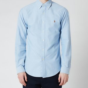 Polo Ralph Lauren Men's Slim Fit Oxford Shirt - Blue - Xxl - Blue 710548535002 Mens Tops, Blue