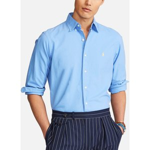 Polo Ralph Lauren Men's Slim Fit Oxford Shirt - Harbor Island Blue - Xxl 710804257015 Mens Tops, Blue