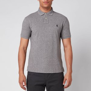 Polo Ralph Lauren Men's Slim Fit Polo Shirt - Canterbury Heather - Xl - Grey 710548797011 Mens Tops, Grey