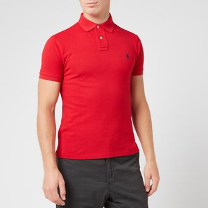 Polo Ralph Lauren Men's Slim Fit Polo Shirt - Red - S 710548797005 Mens Tops, Red