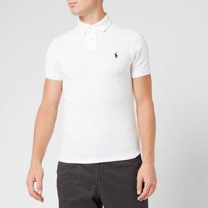 Polo Ralph Lauren Men's Slim Fit Polo Shirt - White - M 710548797001 Mens Tops, White