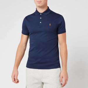 Polo Ralph Lauren Men's Slim Fit Soft Touch Polo Shirt - French Navy - Xl 710685514003 Mens Tops, Blue