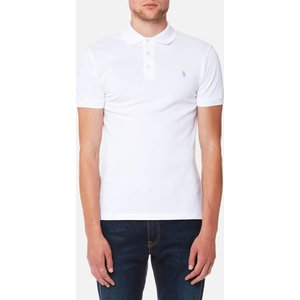 Polo Ralph Lauren Men's Slim Fit Stretch Mesh Polo Shirt - White - M - White 710541705008 Mens Tops, White