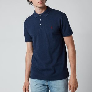 Polo Ralph Lauren Men's Stretch Mesh Slim Fit Polo Shirt - Fresco Blue Heather - S 710541705150 Mens Tops, Blue