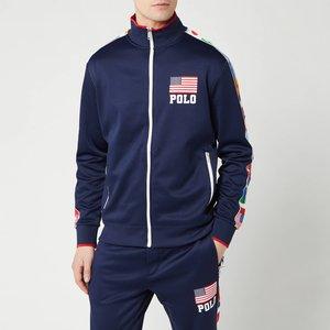 Polo Ralph Lauren Men's Zip Up Flag Track Jacket - Newport Navy - S 710746703001 Mens Outerwear, Blue