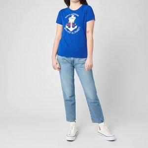 Polo Ralph Lauren Women's Anchor Logo T-shirt - Heritage Royal - S 211838129001 Mens Tops, Blue