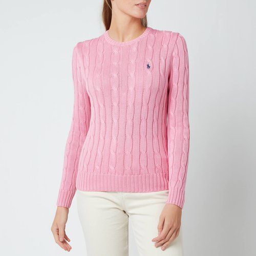 Polo Ralph Lauren Women's Julianna Cable Knit Jumper - Harbour Pink - Xs 211580009093 General Clothing
