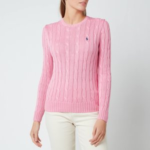 Polo Ralph Lauren Women's Julianna Cable Knit Jumper - Harbour Pink - Xs 211580009093 General Clothing, Pink