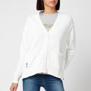 Polo Ralph Lauren Women's Logo Cardigan - White - M 211827822001 Womens Clothing, White