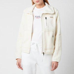 Polo Ralph Lauren Women's Sherpa Jacket - Clubhouse Cream - S 211828097001 Womens Outerwear, Cream