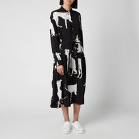 Ps Paul Smith Women's Dog Print Dress - Black - It 40/uk 8 W2r 412d F30716 79 General Clothing, Black