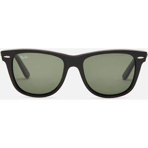 Ray-ban Women's Original Wayfarers Acetate Sunglasses - Black 0rb2140 901 54 Womens Accessories, Frame: Black. Lens: Green.