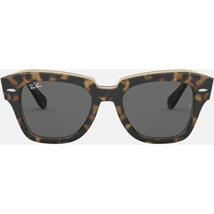 Ray-ban Women's State Street Oversized Cat Eye Sunglasses - Tort 0rb2186 1292b1 52 Womens Accessories, Frame: Tortoiseshell. Lens: Grey.