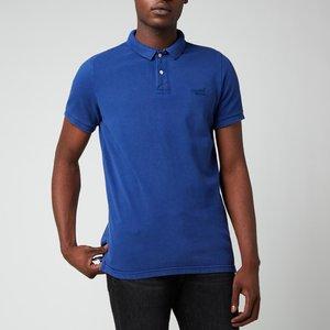 Superdry Men's Vintage Destroy Polo Shirt - Supermarine Navy - Xxl M1110014a General Clothing, Blue