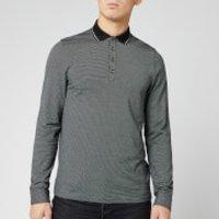 Ted Baker Men's Cuptea Long Sleeve Striped Polo Shirt - Black - L/4 158425 Mens Tops, Black