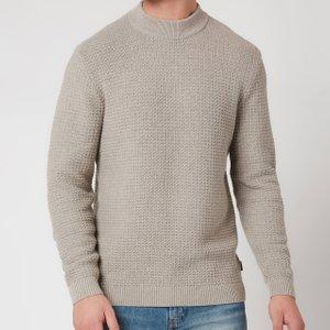 Ted Baker Men's Ovatake Textured Mockneck Jumper - Natural - M/3 249425 Mens Clothing, Beige