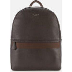Ted Baker Men's Rickrak Webbing Strap Leather Backpack - Chocolate 147949 Mens Accessories, Brown