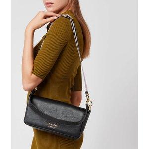 Ted Baker Women's Ammie Branded Webbing Strap Box Shoulder Bag - Jet-black 252577 Womens Accessories, Black