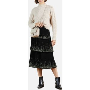 Ted Baker Women's Carsena Papyrus Tiered Pleated Midi Skirt - Black - Uk 10 248605 Womens Dresses & Skirts, Black