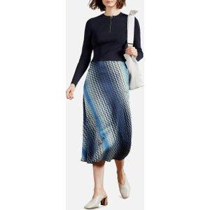 Ted Baker Women's Ionaaa Mockable Slip Dress - Navy - Uk 14 250155 Womens Dresses & Skirts, Blue