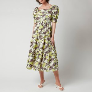 Ted Baker Women's Maysiie Puff Sleeve Tiered Midi Dress - Dark Green - Uk 8 253129 General Clothing, Green