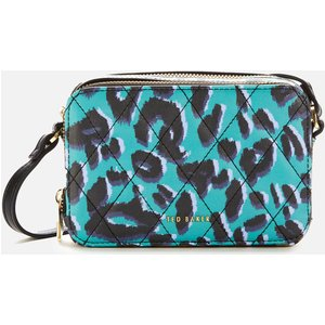 Ted Baker Women's Quiltt Quilted Leopard Detail Camera Bag - Olive 253207 Womens Accessories, Multi