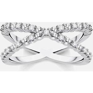 Thomas Sabo Women's Ring - White - 52 Tr2318 051 14 52 Womens Jewellery, Silver