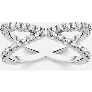 Thomas Sabo Women's Ring - White - 58 Tr2318 051 14 58 Womens Jewellery, Silver