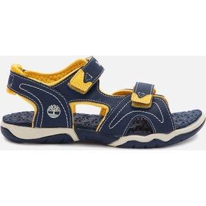 Timberland Kids' Adventure Seeker 2 Strap Sandals - Navy/yellow - Uk 13 Kids Tb02474a4841 Childrens Footwear, Blue