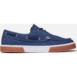 Timberland Men's Union Wharf Canvas Boat Shoes - Navy - Uk 7 Tb0a42ps0191 Mens Footwear, Blue