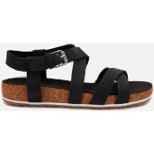 Timberland Women's Malibu Waves Ankle Nubuck Strappy Sandals - Black - Uk 5 Tb0a1mr30151 Womens Footwear, Black