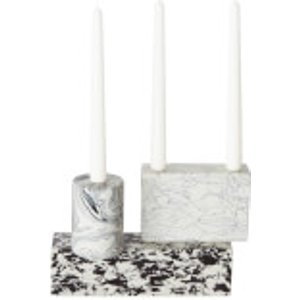 Tom Dixon Swirl Black & White Candelabra Swca01 Home Accessories, Black/White