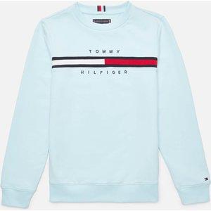 Tommy Hilfiger Boys' Flag Rib Insert Sweatshirt - Frost Blue - 14 Years Kb0kb06568cut Childrens Clothing, Blue
