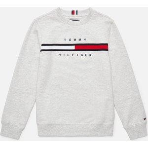 Tommy Hilfiger Boys' Flag Rib Insert Sweatshirt - Light Grey Heather - 7 Years Kb0kb06568pz1 Childrens Clothing, Grey