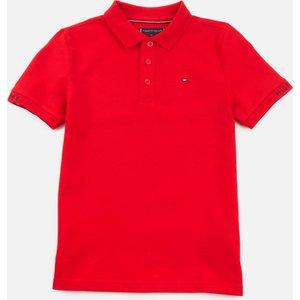 Tommy Hilfiger Boys' Slim Fit Polo-shirt - Deep Crimson - 14 Years Kb0kb06538xnl Childrens Clothing, Red