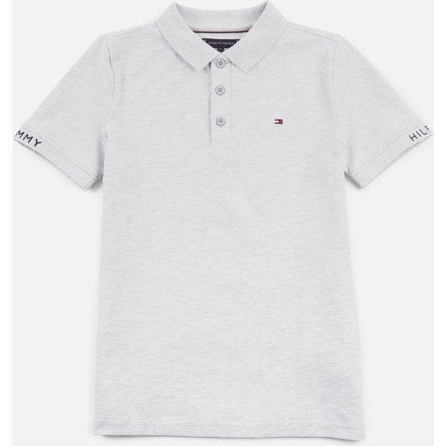 Tommy Hilfiger Boys' Slim Fit Polo-shirt - Light Grey Heather - 10 Years Kb0kb06538pz1 Childrens Clothing, Grey
