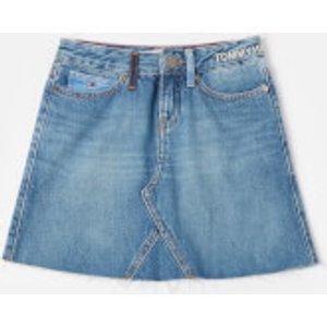 Tommy Hilfiger Girls' A Line Skirt - Upcycled Denim - 12 Years Kg0kg04825 Girls Clothes, Blue