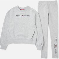 Tommy Hilfiger Girls' Essential Sweatshirt And Leggings Set - Grey Heather - 12 Years Kg0kg06027p01 Childrens Clothing, Grey