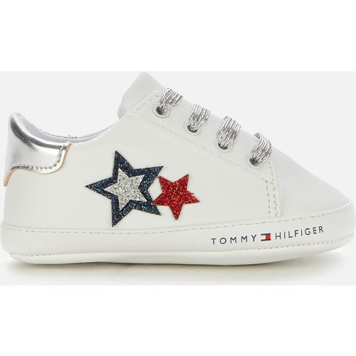 Tommy Hilfiger Girls' Lace-up Shoe White/blue/red White/blue/red - 6-9 Months T0a4 30594 0886y003 Childrens Footwear