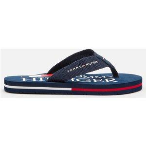 Tommy Hilfiger Kids' Logo Print Flip Flops - Blue - Uk 13 Kids T3b0 30982 0058800  Childrens Footwear, Blue