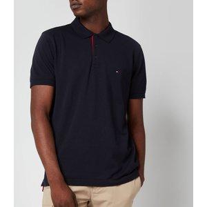 Tommy Hilfiger Men's Contrast Placket Polo Shirt - Desert Sky - M Mw0mw19379dw5 General Clothing, Blue