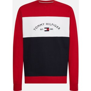 Tommy Hilfiger Men's Embroidered Signature Crewneck Sweatshirt - Red Multi - Xxl Mw0mw183000ev Mens Tops, Red