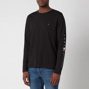 Tommy Hilfiger Men's Essential Long Sleeve T-shirt - Black - M Mw0mw17677bds Mens Tops, Black