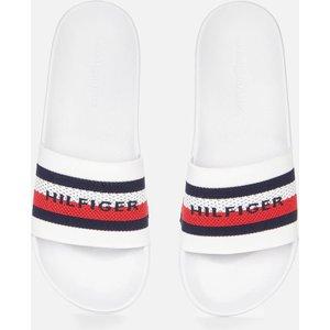 Tommy Hilfiger Men's Knitted Slide Sandals - White - Uk 10.5 Fm0fm03642ybr Mens Footwear, White