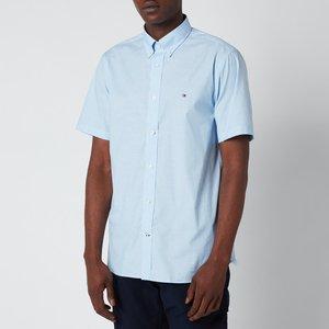 Tommy Hilfiger Men's Soft Poplin Short Sleeve Shirt - Copenhagen Blue - Xl Mw0mw18870c39 General Clothing, Blue