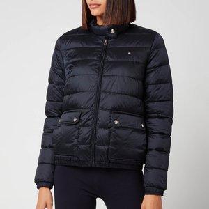 Tommy Hilfiger Women's Nylon Lw Padded Jacket - Desert Sky - L Ww0ww29916dw5 General Clothing, Blue