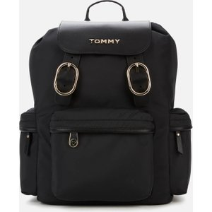 Tommy Hilfiger Women's Recycled Nylon Backpack - Black Aw0aw088530gj Bags, Black