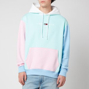 Tommy Jeans Men's Colorblock Hoodie - Aqua Coast Multi - M Dm0dm11659c1t General Clothing, Multi